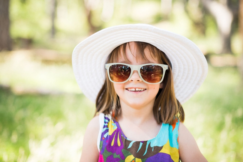 YOUNG GIRL IN SUNGLASSES WITH HAT PORTRAIT NORTH NORFOLK
