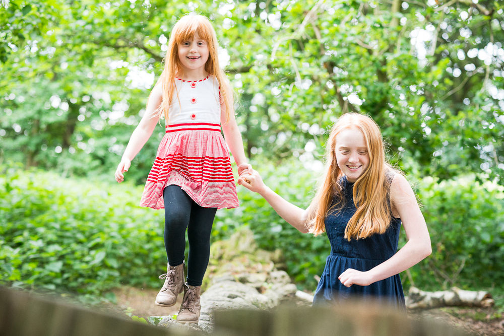 SISTERS MESSING ABOUT IN THE WOODS