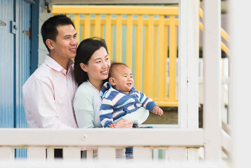 BEACH HUT FAMILY PHOTOGRAPH