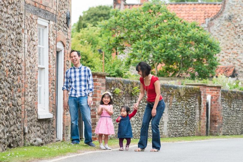 WALKING THROUGH WALSINGHAM FAMILY LIFESTYLE PORTRAIT