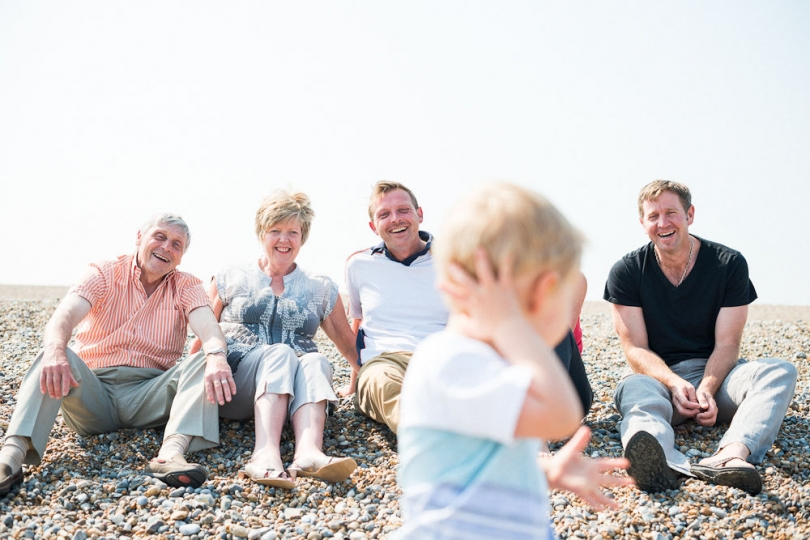 FAMILY AND GRANDSON LIFESTYLE PORTRAIT