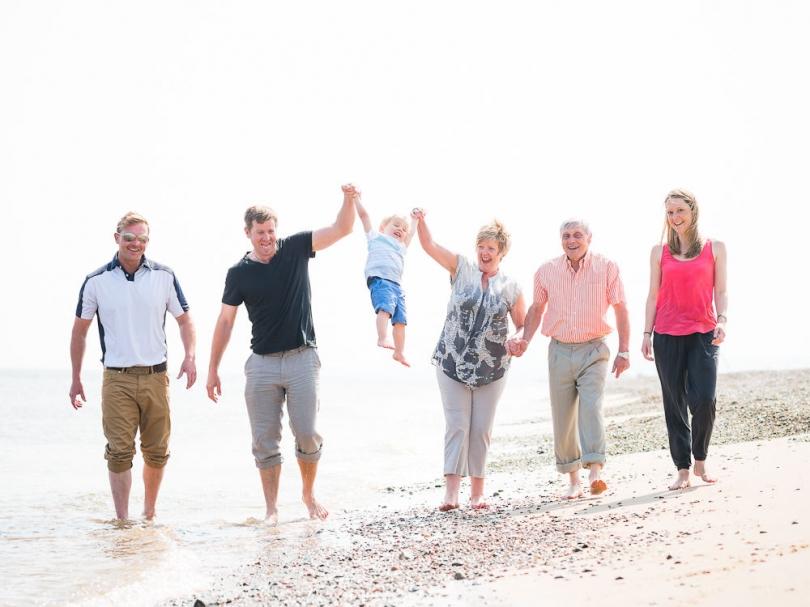 FAMILY ON THE BEACH PORTRAIT