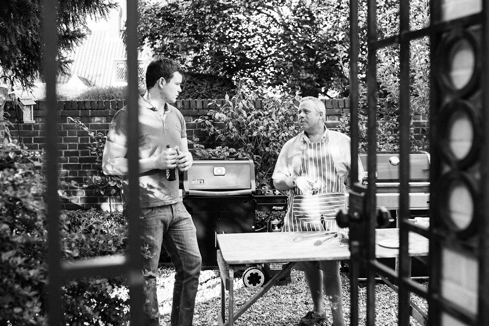 BBQ IN THE GARDEN PORTRAIT