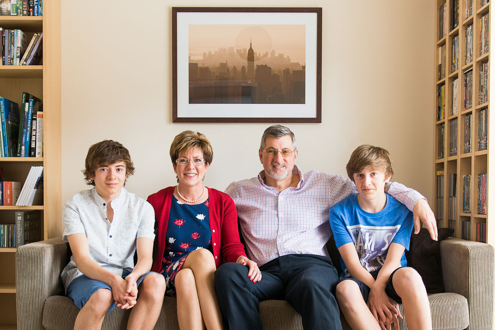 FORMAL FAMILY PORTRAIT AT HOME