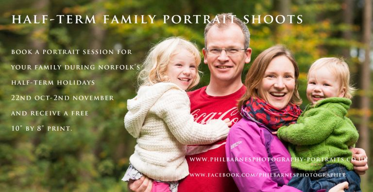 norfolk portrait photography offer half-term holidays