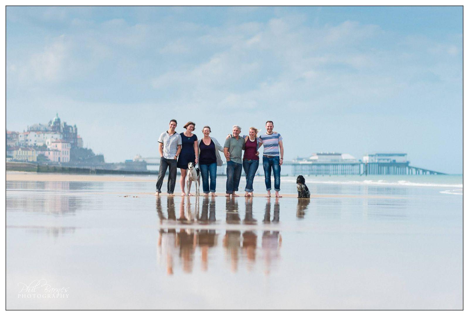 FAMILY PORTRAIT CROMER SKYLINE AND BEACH