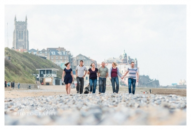 CROMER FAMILY PHOTOGRAPH ON BEACH