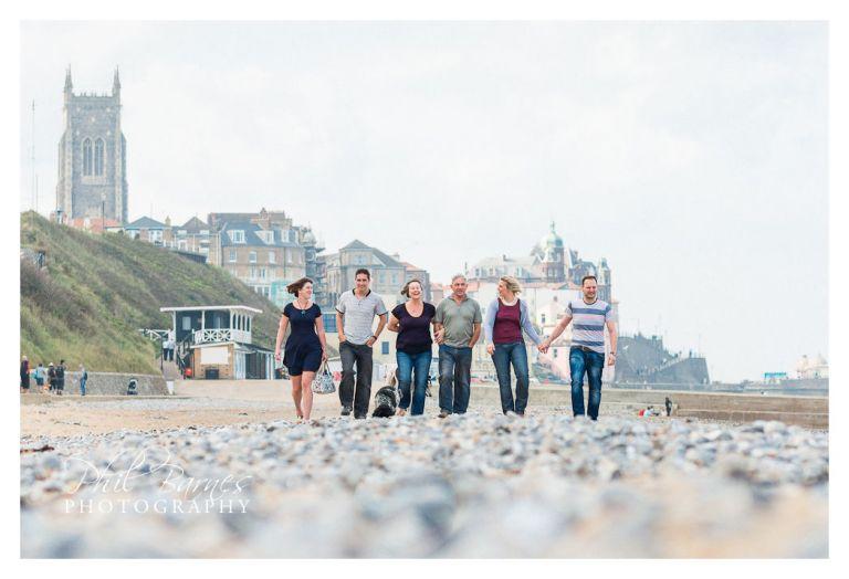 CROMER FAMILY PHOTOGRAPH ON BEACH