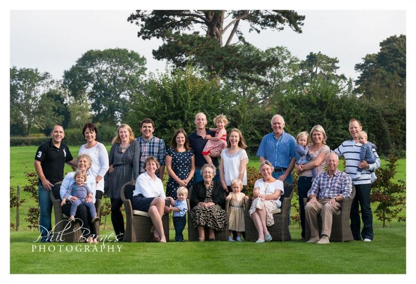 BIG FAMILY PORTRAIT BIRTHDAY PARTY